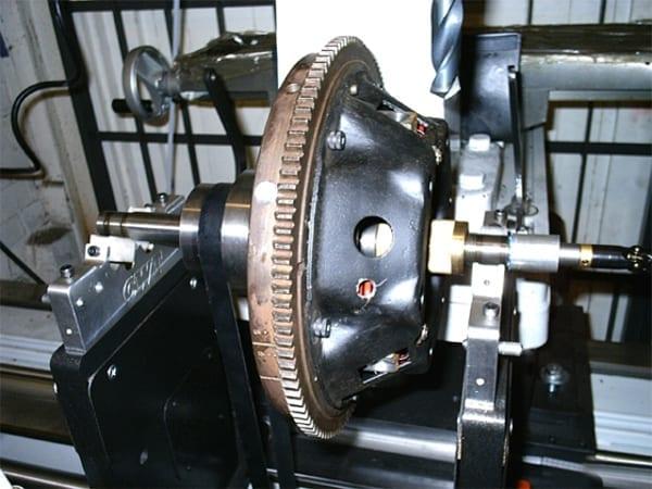 Lathe Machine Close Up | T&L Engineering Bedford